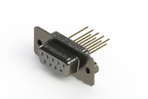 628-M09-223-WN2 - Vertical Machined D-Sub Connector