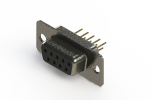 628-M09-321-BN1 - Vertical Machined D-Sub Connector