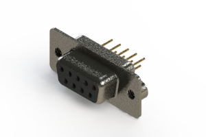628-M09-321-BN2 - Vertical Machined D-Sub Connector