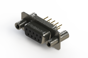 628-M09-321-BN4 - Vertical Machined D-Sub Connector