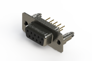 628-M09-321-BN5 - Vertical Machined D-Sub Connector
