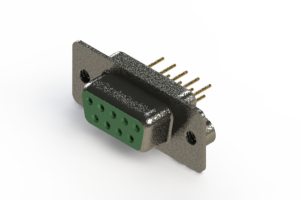 628-M09-321-GN2 - Vertical Machined D-Sub Connector