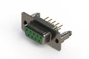 628-M09-321-GN5 - Vertical Machined D-Sub Connector