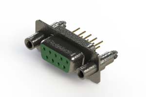 628-M09-321-GN6 - Vertical Machined D-Sub Connector
