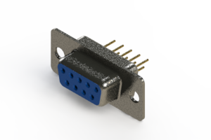 628-M09-321-LN1 - Vertical Machined D-Sub Connector