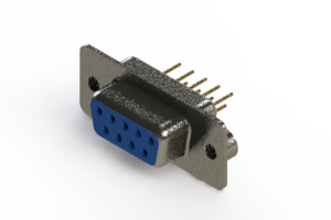 628-M09-321-LN2 - Vertical Machined D-Sub Connector