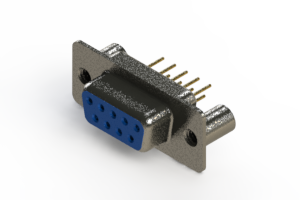 628-M09-321-LN3 - Vertical Machined D-Sub Connector
