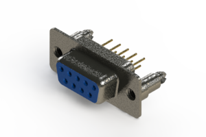 628-M09-321-LN5 - Vertical Machined D-Sub Connector