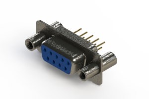 628-M09-321-LT4 - Vertical Machined D-Sub Connector