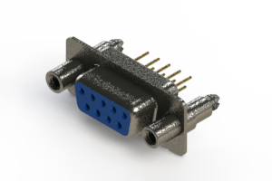 628-M09-321-LT6 - Vertical Machined D-Sub Connector
