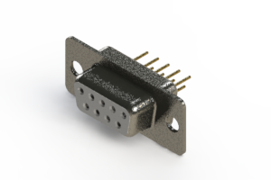 628-M09-321-WN1 - Vertical Machined D-Sub Connector