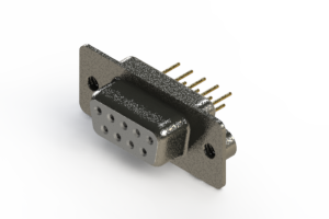 628-M09-321-WN2 - Vertical Machined D-Sub Connector