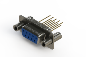 628-M09-323-LT4 - Vertical Machined D-Sub Connector