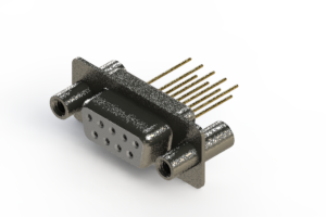 628-M09-323-WN4 - Vertical Machined D-Sub Connector