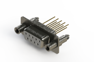 628-M09-323-WN6 - Vertical Machined D-Sub Connector