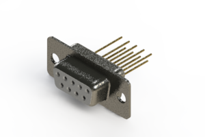 628-M09-323-WT1 - Vertical Machined D-Sub Connector