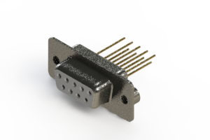 628-M09-323-WT2 - Vertical Machined D-Sub Connector