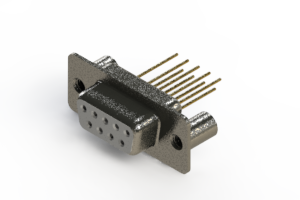 628-M09-323-WT3 - Vertical Machined D-Sub Connector