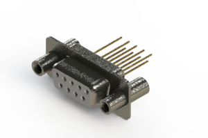 628-M09-323-WT4 - Vertical Machined D-Sub Connector