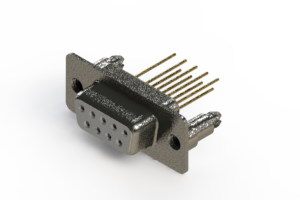 628-M09-323-WT5 - Vertical Machined D-Sub Connector