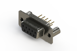 628-M09-621-BN3 - Vertical Machined D-Sub Connector