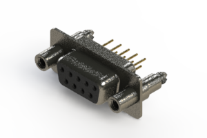 628-M09-621-BN6 - Vertical Machined D-Sub Connector