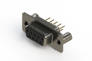 628-M09-621-BT3 - Vertical Machined D-Sub Connector
