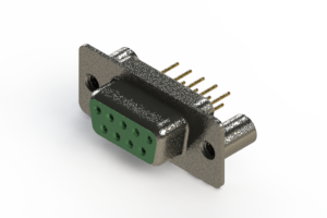 628-M09-621-GN3 - Vertical Machined D-Sub Connector