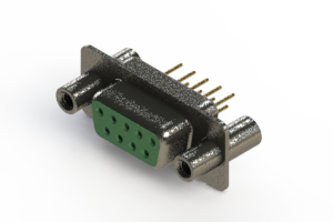628-M09-621-GN4 - Vertical Machined D-Sub Connector