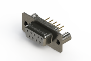628-M09-621-WN3 - Vertical Machined D-Sub Connector