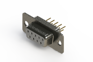 628-M09-621-WT1 - Vertical Machined D-Sub Connector