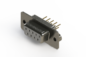 628-M09-621-WT2 - Vertical Machined D-Sub Connector