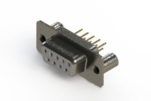 628-M09-621-WT3 - Vertical Machined D-Sub Connector