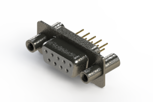 628-M09-621-WT4 - Vertical Machined D-Sub Connector