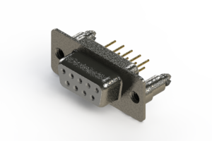 628-M09-621-WT5 - Vertical Machined D-Sub Connector