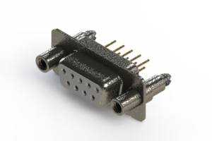 628-M09-621-WT6 - Vertical Machined D-Sub Connector