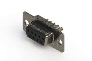 628-M09-622-BN1 - Vertical Machined D-Sub Connector