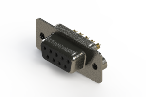 628-M09-622-BN2 - Vertical Machined D-Sub Connector