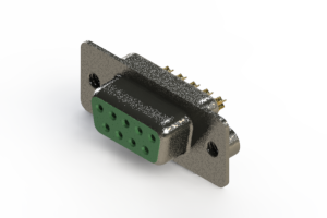 628-M09-622-GN2 - Vertical Machined D-Sub Connector