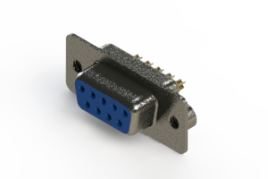 628-M09-622-LN2 - Vertical Machined D-Sub Connector