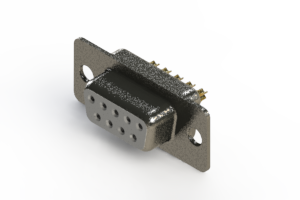 628-M09-622-WN1 - Vertical Machined D-Sub Connector