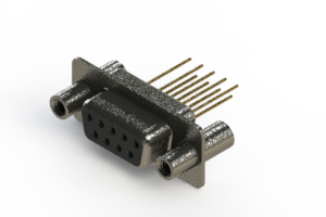 628-M09-623-BN4 - Vertical Machined D-Sub Connector