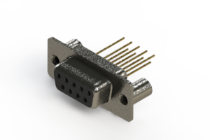 628-M09-623-BT3 - Vertical Machined D-Sub Connector