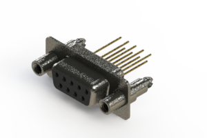 628-M09-623-BT6 - Vertical Machined D-Sub Connector