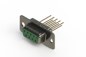 628-M09-623-GN1 - Vertical Machined D-Sub Connector