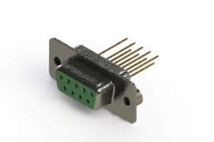 628-M09-623-GN2 - Vertical Machined D-Sub Connector