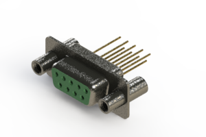 628-M09-623-GN4 - Vertical Machined D-Sub Connector