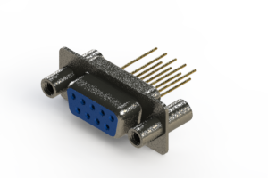 628-M09-623-LT4 - Vertical Machined D-Sub Connector