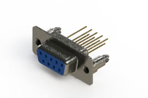628-M09-623-LT5 - Vertical Machined D-Sub Connector