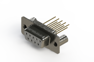 628-M09-623-WN3 - Vertical Machined D-Sub Connector